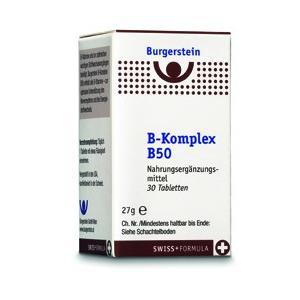 Burgerstein Vitamin B-Komplex B50 30 Tabletten