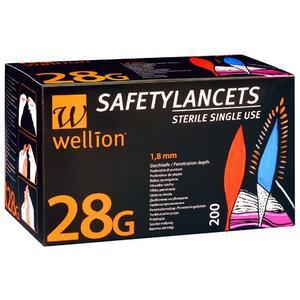 Wellion SafetyLancets 28G