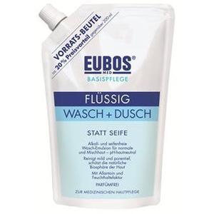 Eubos Wasch- und Duschemulsion BLAU flüssig Nachfüllung 400ml