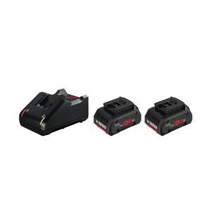 Bosch Akku Starter-Set: 2 x ProCORE 18 Volt, 4.0 Ah + GAL 18V-40 Professional