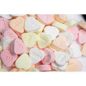 Zuckerl wie Früher! -Traubenzucker- Herzen, Süsses Valentin Geschenk, Mitbringsel, Love,