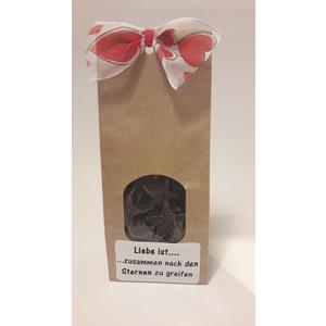 Liebessterne - Dunkele Schokolade aus Belgium *Handmade, Süsses Valentin Geschenk, Mitbringsel, Love,