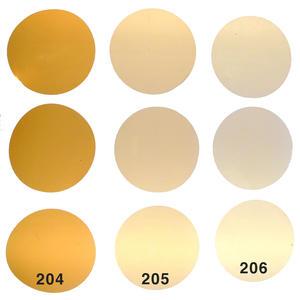 Selbstklebend Warmlicht Filterset CTO für LED Lampen GU10, 3 Farben je 3 STK. Kreiszuschnitt 5cm