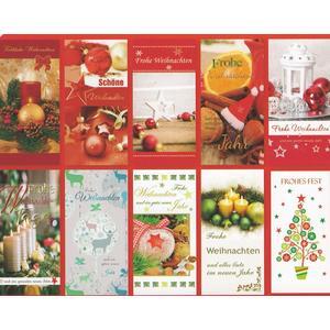 Weihnachtskarten Set mit10 Karten