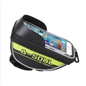 Fahrrad Lenkertasche für Smartphones mit Touchdisplay grün