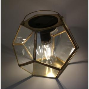 Solenova Solar-Laterne Filamentbirne Metall & Glas ca. 17,9 x 18,2 x 22,5 cm