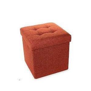 Aufklappbarer Hocker Faltbare Aufbewahrungsbox orange 38x38x38cm