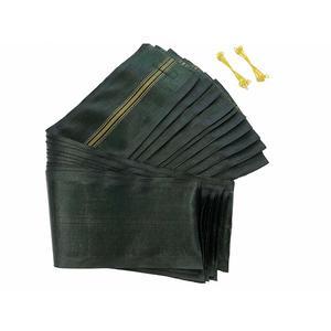 10 Stück Hochwasserschutz Sandsäcke 120 x 27 cm mit Tragegriff und Draht Schlaufen - ohne Füllung