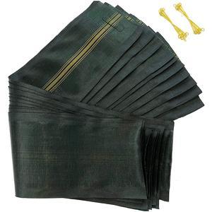 10 Stück Silosäcke - Sandsäcke 120 x 27 cm mit Tragegriff und Draht Schlaufen - ohne Füllung