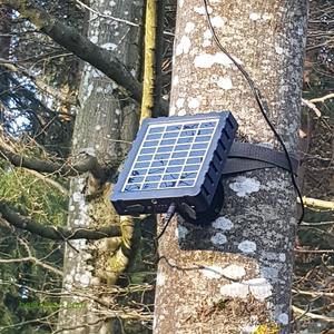 Solar Panel für Wildkamera mit integrierter Batterie, 12V