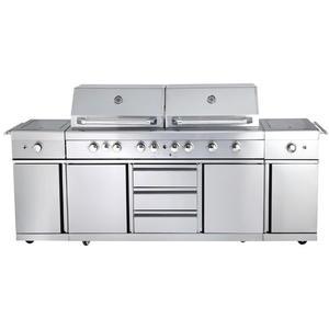 Allgrill Outdoorküche EXTREM inkl. Steakzone & Seitenkocher (Volledelstahl)