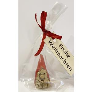 """Wichtel """"Frohe Weihnachten"""" aus Bad Gamser Keramik (Weihnachten, Wichtel, Wichteln, Geschenk, Mitbringsl, Keramik, Handarbeit, Christkindlmarkt)"""
