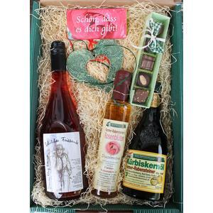 """Genuss - Geschenkkarton """"Schön, dass es dich gibt"""" - für Geburtstag, Valentinstag, Muttertag, Ostern, Weihnachten, als Geschenk"""