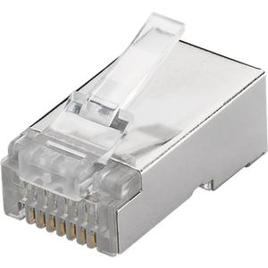 RJ45 plug, CAT 6 STP shielded for round cable