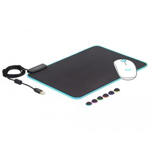 Delock USB Mauspad 350 x 260 x 3 mm mit RGB Beleuchtung