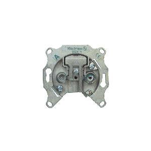 Antennensteckdose Durchgang 1.0 dB 2 Silber