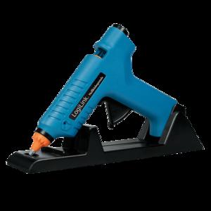 Heißklebepistole kabellos, 80W, mit Aufsteller, blau