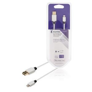 Sync und Ladekabel Apple Lightning - USB A male 2.00 m Weiss