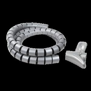 Kabelschauch, Spiralschlauch, Ø28 mm, 1,5m, grau