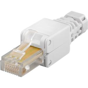 Tool-free RJ45 network connector CAT 5e UTP unshielded max. cable Ø: 5 mm