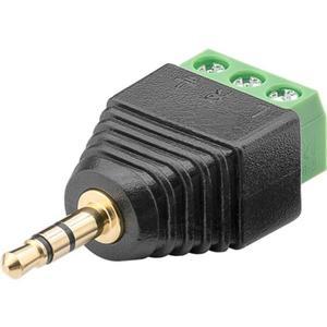 Terminal Block 3-pin > Klinke 3,5 mm Stecker (3-Pin, stereo) Schraubbefestigung