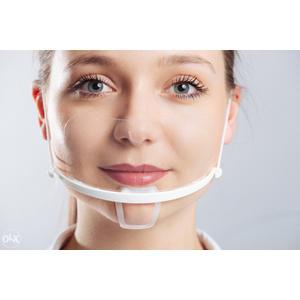 Gesichtsvisier / Schutzmaske aus Kunststoff - Visier Gesichtsmaske Mund Nase Schutz (Blauer oder Grüner Bügel)
