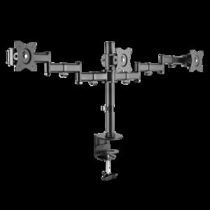 """3-fach Monitorhalterung, 13–27"""", Stahl, Armlänge: je 665 mm"""