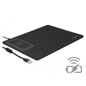 Delock USB Mauspad mit kabelloser Ladefunktion