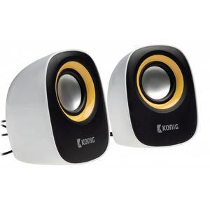 Konig 2.0 Lautsprecherset gelb