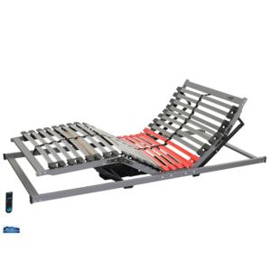 HOTELWERKSTATT MEDIduo EH6 Buchen- Lattenrost Elektrisch Kabellos Fernbedienung Inklusive Synchronisierungskabel 100x200x8 cm
