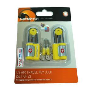 Samsonite 61598-1924 US Air Travel Key Lock 2er Set Gelb TSA Schloss
