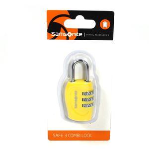 Samsonite 62130 Safe 3 Combi Lock Gelb Kofferschloss Zahlenschloss