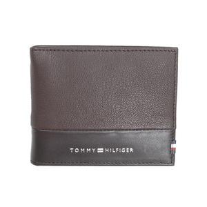 Tommy Hilfiger Herren Geldbörse Textured Mini CC Moneyclip Leder Braun