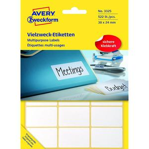 AVERY ZWECKFORM 3325 Etiketten WEISS