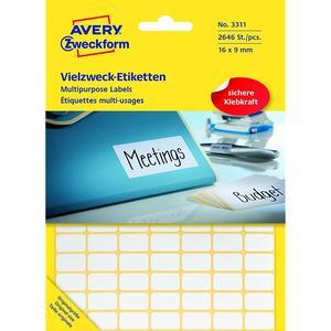 AVERY ZWECKFORM 3311 Etiketten WEISS