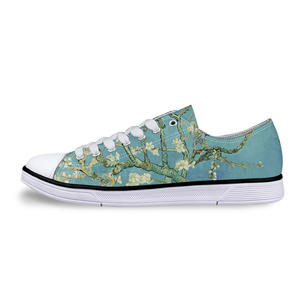 "Sneaker Schuhe ""Van Gogh Art - Mandelblüten"" kurz"