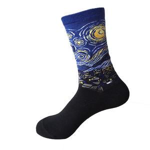 "Socken ""Vincent van Gogh - Sternennacht"", medium cut, crew"