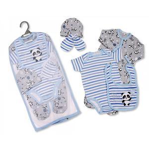 Geschenkset Baby Panda Jungen (5-teilig)