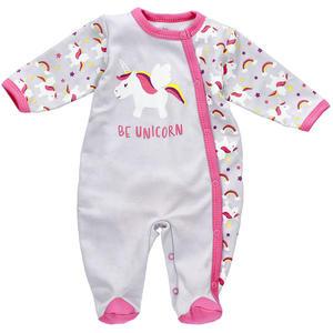 Baby Sweets Mädchen Strampler Schlafanzug grau rosa Be Unicorn