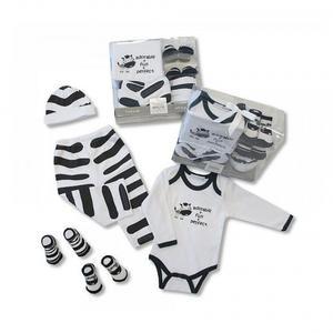 Geschenkset Baby - Zebra (5-teilig)
