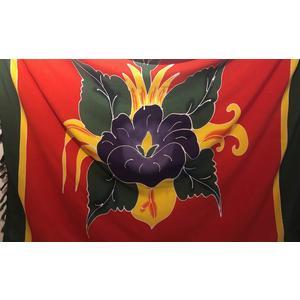 Sarong - Wickeltuch mit Blumenmotiv