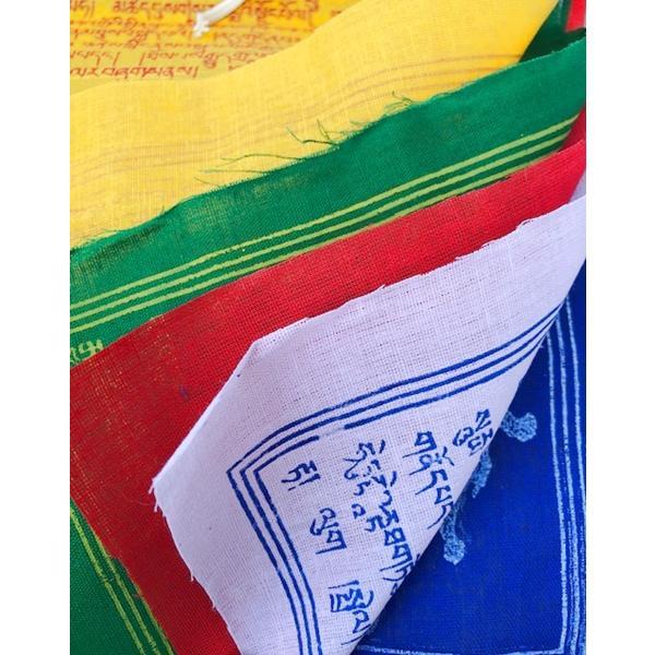 Tibetische Gebetsfahne aus Baumwolle 2,7m