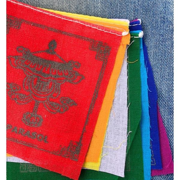 Gebetsfahne aus Baumwolle mit 8 Glückssymbolen 0,8 m