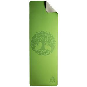 Yogamatte TPE ecofriendly 6mm mit Weltenbaum/Lebensbaum/Yggdrasil - grün