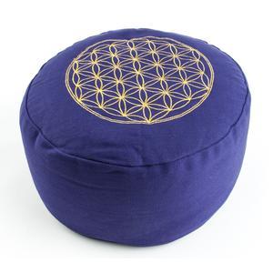 Meditationskissen - Blume des Lebens - lila