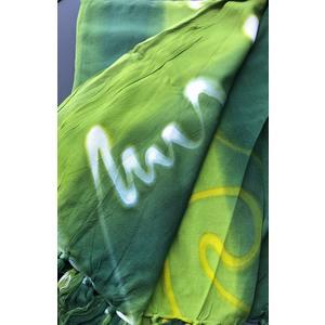 Sarong - Wickeltuch grün mit Wellen