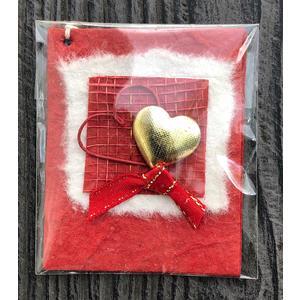 Geschenkanhänger goldenes Herz