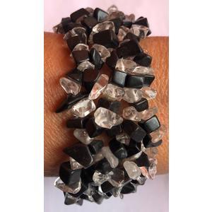 Armband Bergkristall - Onyx - Splitter - Heilsteine
