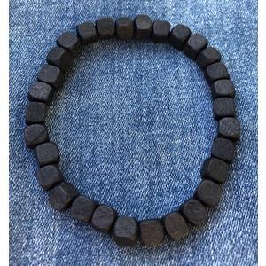 Armband Holz schwarz