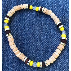 Armband natur / gelb